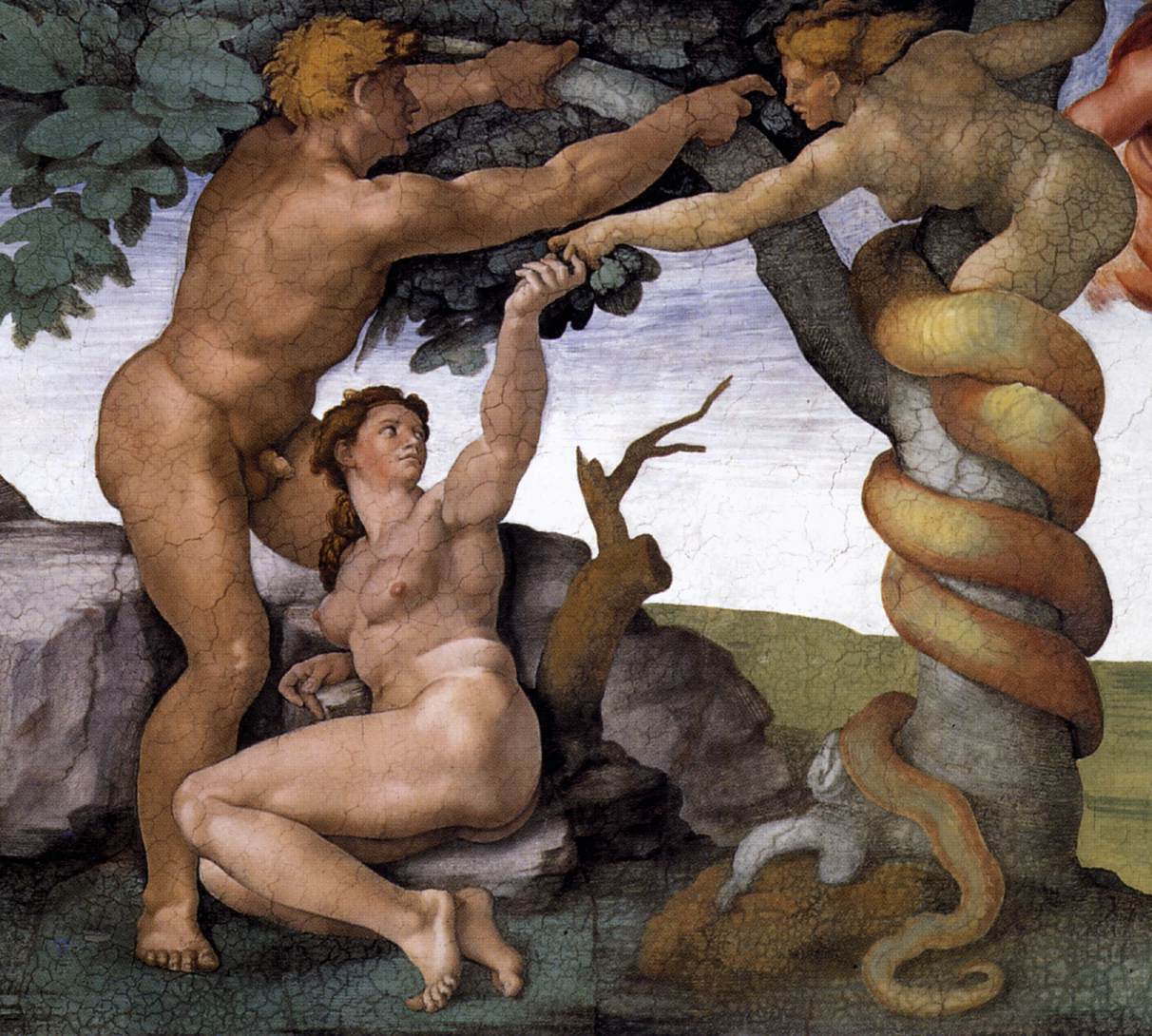 Michelangelo,_Fall_and_Expulsion_from_Garden_of_Eden_04